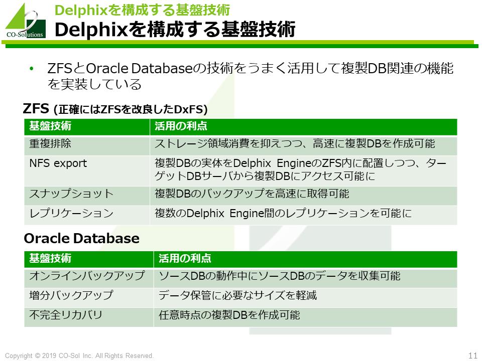 Delphixを構成する基盤技術