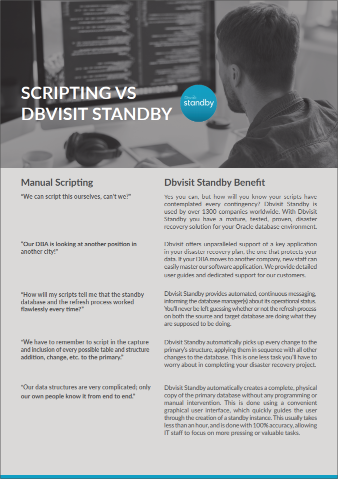 Scripting vs Dbvisit Standby