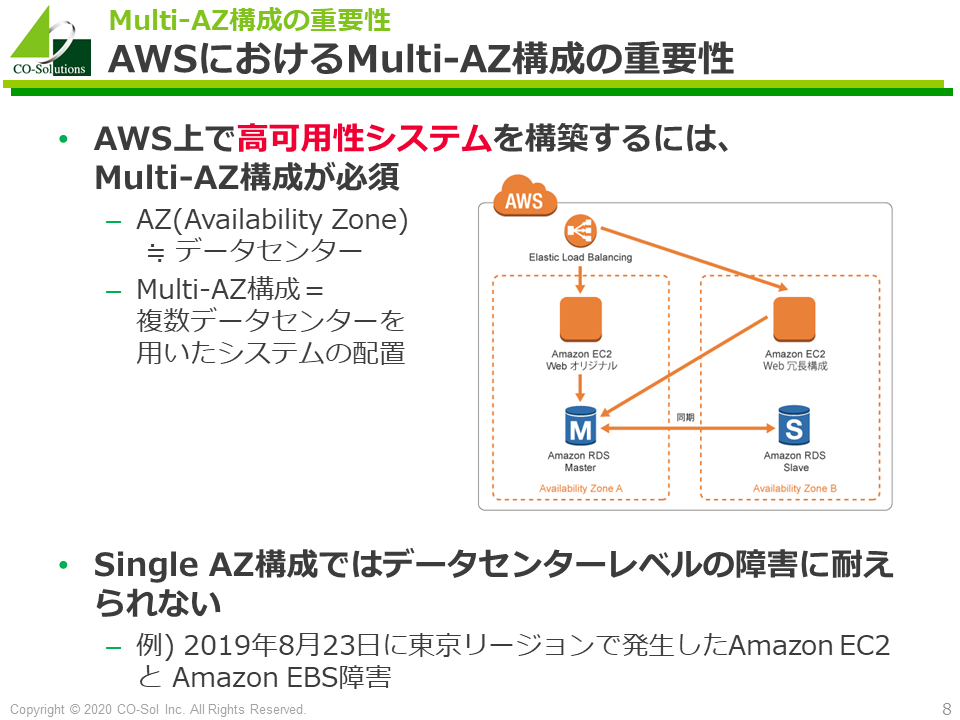 AWSにおけるMulti-AZ構成の重要性