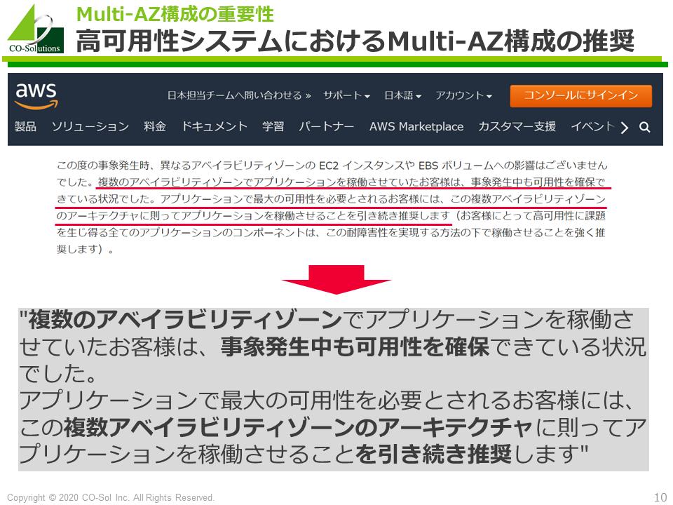 高可用性システムにおけるMulti-AZ構成の推奨