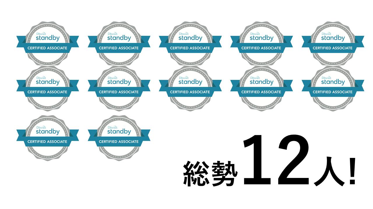 Dbvisitに関わる総勢12名のエンジニアが認定資格Dbvisit Standby Certified Associateを取得しました!